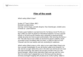 gilbert grape essay   gcse english   marked by teachers comdocument image preview