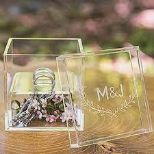 Image result for personalized boxes with your names and wedding date