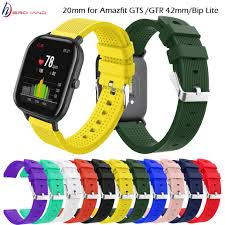 <b>20mm Sports Silicone Wrist</b> Strap for Xiaomi Huami Amazfit GTS ...