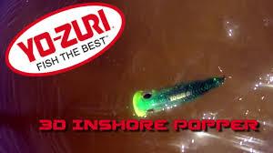 Inventive Fishing Gear Review: Yo-Zuri 3D Inshore <b>Popper</b> - YouTube