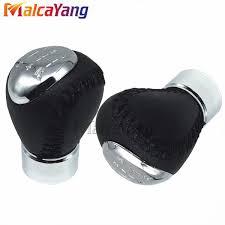 Genuine <b>Leather Chrome</b> 5 6 Speed <b>Car Automobile Gear</b> Stick ...