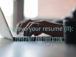 tips to make your resume the best ii experience and education tips to make your resume the best ii experience and education infographic wipjobs