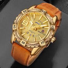 NAVIFORCE Luxury Brand <b>Mens</b> Sport Watch Gold <b>Full Steel</b> Quartz ...