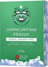 <b>SNP Dragon</b> Soothing <b>Animal</b> Mask *10ea: Amazon.ca: Beauty