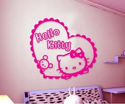 jual stiker tembok hello kitty: Jual hello kitty heart wall sticker wallsticker wall stiker