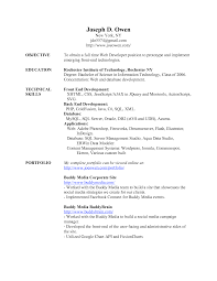 web development resume examples resume for net developer sample web developer resume yangi