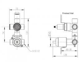 <b>Встраиваемая часть</b> для <b>смесителя</b> 2 реж D982CP-A-RUS <b>Bravat</b>
