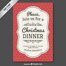 vintage christmas invitation template vector vintage christmas invitation template vector