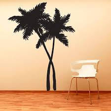 palm tree wall stickers: swaying palm trees vinyl decal wall sticker