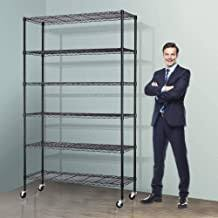 Metal Storage Shelves with Wheels - Amazon.com