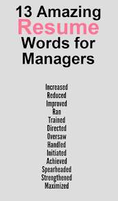 Great words to use on your  resume Pinterest