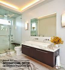 inspirational lighting ideas for bathroom creative fixtures windowless bathrooms ceiling and mirror small bedroom over the bathroom lighting ideas 4