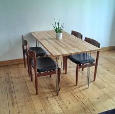 dining chairs hairpin legs wood