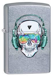 <b>зажигалка Zippo</b> 29855 <b>Skull Headphone</b> Design купить в ...