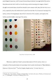 int seminar final essay is damien hirst a real artist