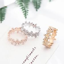 <b>SEIALOY</b> Rose Gold Dazzling Daisy Group Rings For Women ...