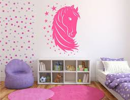 stylish horse and stars wall decals for teen bedroom yet colorful teenage bedroom with polka dot bedroom bedroom beautiful furniture cute pink