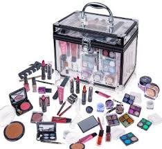 shany carry all trunk professional makeup kit eyeshadow pedicure manicure gift set