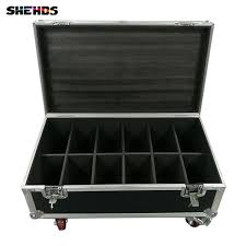 Flight Case <b>Fast Shipping</b> With Disco DJ Flat SlimPar Quad <b>7x12W</b> ...