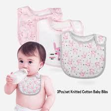<b>3Pcs</b>/<b>set</b> Knitted Cotton Baby <b>Bibs</b> Toddler Care Soft Scarf Feeding ...