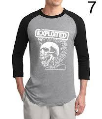 <b>HAMPSON LANQE</b> THE EXPLOITED SKULL 3/4 Sleeves T-Shirt ...