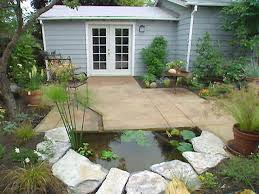 diy patio pond: half moon pond hgpg  water feature pond at edgejpgrendhgtvcom