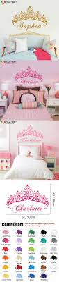 girl bedroom colorful wall sticker baby girl crown wall sticker custom princess name decals home decor wa