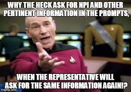 Pharmacy Humor: Why the heck ask for NPI and other pertinent ... via Relatably.com