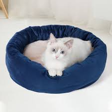 Round Plush <b>Pets Dog</b> Bed Soft And <b>Warm</b> Cat House <b>Pet</b> Bed Cat ...