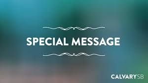 calvary chapel santa barbara special messages image