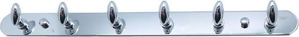 """<b>Планка</b> для ванной """"Fixsen"""", с <b>6 крючками</b>, цвет: хром — купить в ..."""
