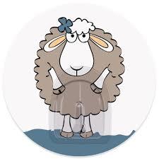 "<b>Крючок адгезивный Tatkraft</b> ""Funny sheep. Dolly"", диаметр 8 см ..."