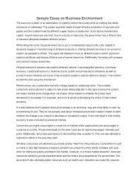economic systems essay  www gxart orgsample essay on business environmentsample essay on business environment the economic system is an assimilation of