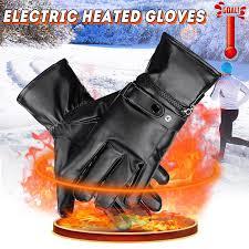 Black Bicycle <b>Motorcycle</b> Warmer <b>Gloves</b> Mittens Thermal <b>Electric</b> ...