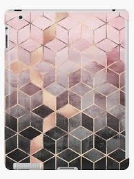 """""""Pink And Grey <b>Gradient</b> Cubes"""" <b>iPad Case</b> & Skin by foto-ella ..."""
