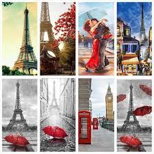 <b>HUACAN Full Square Diamond</b> Painting Eiffel Tower 5D DIY Mosaic ...