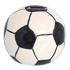 <b>Копилка Футбольный Мяч 9</b>,<b>8См</b> Черно-Белая Керамика ...