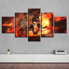 <b>HD Canvas</b> Printed <b>Painting</b> Wall Art Modular Poster 5 Panel ...