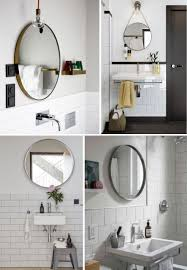 round mirrors for bathroom