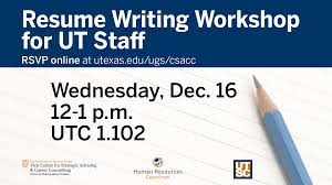 upcoming events resume writing workshop university of texas at resume writing ut staff slide 12 16