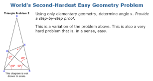 or  world s hardest easy geometry problem