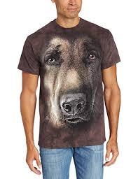 The Mountain German Shepherd Portrait T-Shirt ... - Amazon.com