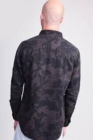 Рубашка URBAN CLASSICS Camo Shirt Dark Camo - Бордшоп#1