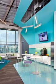 another color in blue and amazing white office interior blue office room design