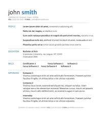 format resume model word format printable of resume model word format