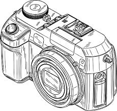 Image result for camera clipart black and white png