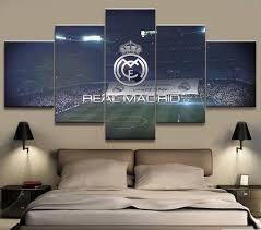 5 Panel Real Madrid La Liga Canvas <b>Printed</b> Painting For Living ...