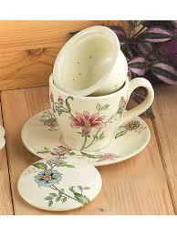 <b>Чашка с блюдцем</b> с керамическим ситечком и крышкой 13см ...