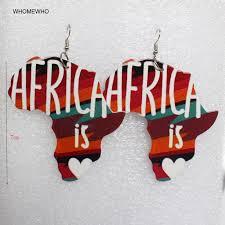 2018 Unfinished <b>Wood Painting Africa</b> Map Geometric Drop ...