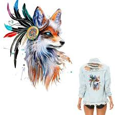 <b>Colorful</b> Fox Heat Transfer Decorative Stickers Transfer Printing ...